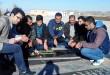 غبار روبی مزار شهدا توسط بسیجیان پایگاه جوادالائمه نسران